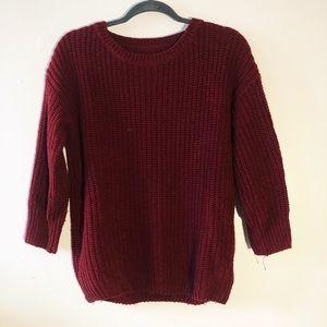 Big red sweater